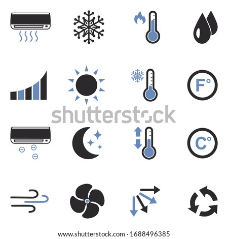 air conditioning icons two