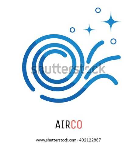 air conditioning logo concept