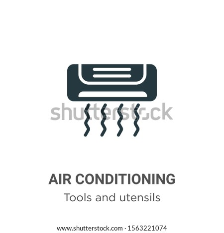 Air conditioning vector icon on white background. Flat vector air conditioning icon symbol sign from modern tools and utensils collection for mobile concept and web apps design.