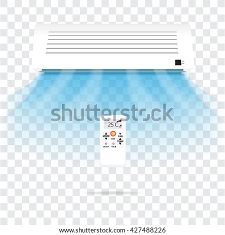 Air conditioning vector on transparent background