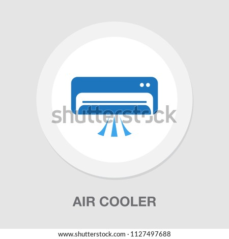 air cooler symbol, vector air conditioner illustration isolated - electric appliance