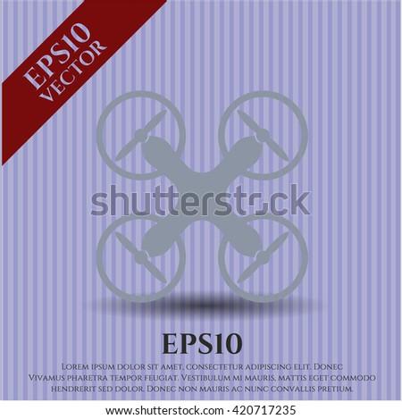 air drone icon vector symbol flat eps jpg app web concept