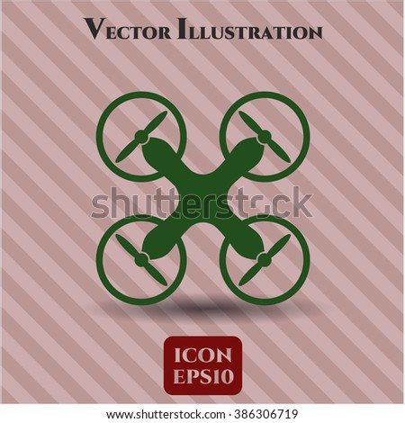 Air Drone vector icon