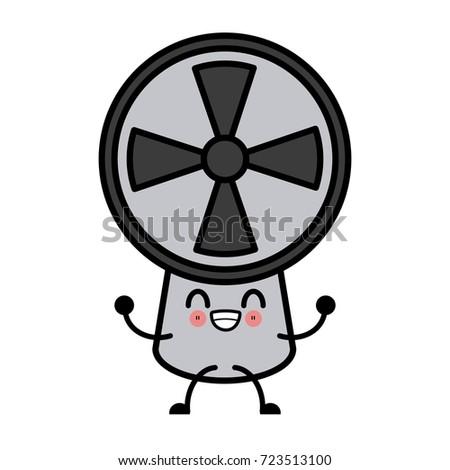 Air fan ventilation cute kawaii cartoon cute kawaii cartoon