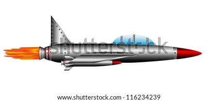 Air fighter isolated on white background - vector