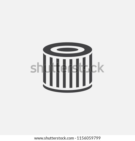 air filter base icon. Simple sign illustration. air filter symbol design from Car service series. Can be used for web, print and mobile