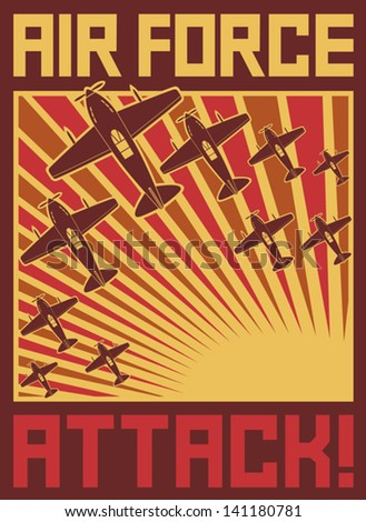 air force attack poster  old