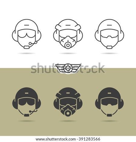 air force helmet icons