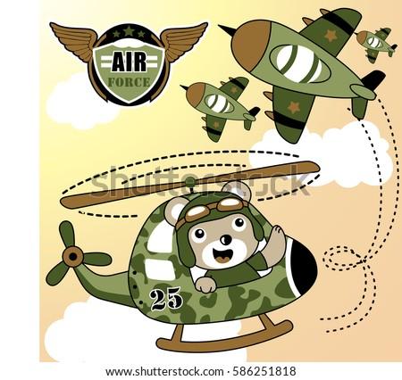 air force squadron, vector cartoon illustration