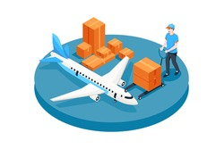 Air Freight Vector Illustration Concept