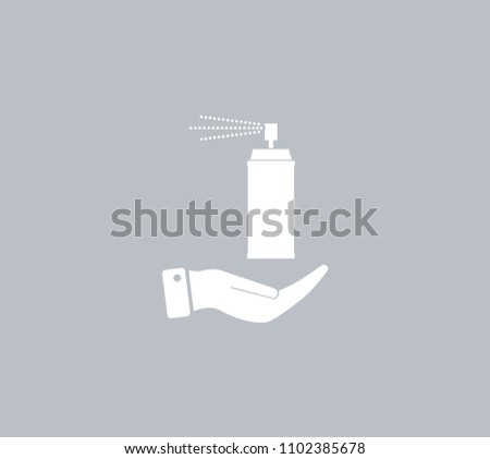 Air freshener on hand. Vector icon.