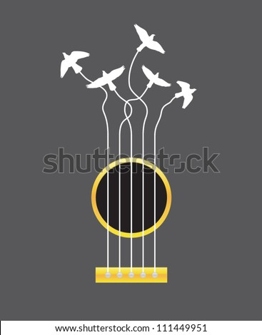 air guitar vector illustration