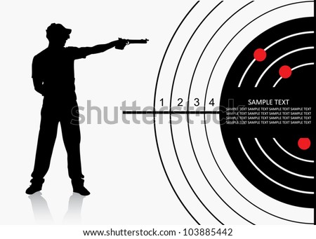 air gun shooter   vector