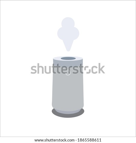 Air humidifier, isolated on white background illustration icon. Air cleaning and humidifying devise for the house. Air purifier,air ionization Stock photo ©