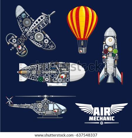 air mechanics vector aircrafts