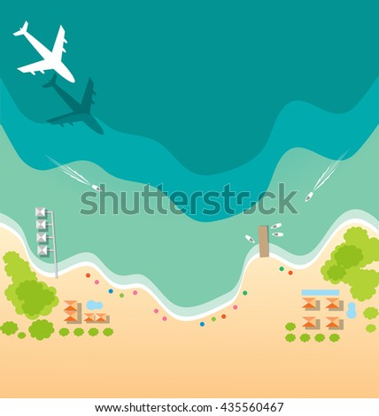 air plane and boat paradise