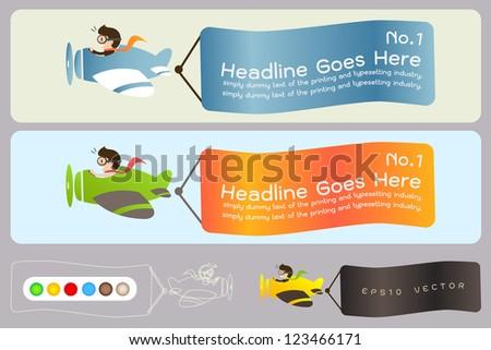 air plane banner ,EPS10 vector