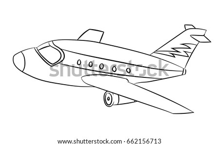 Coloring The Aeroplane Vectors - Download Free Vector Art, Stock ...