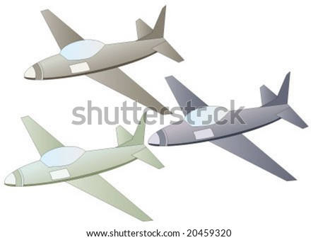air planes in three colors