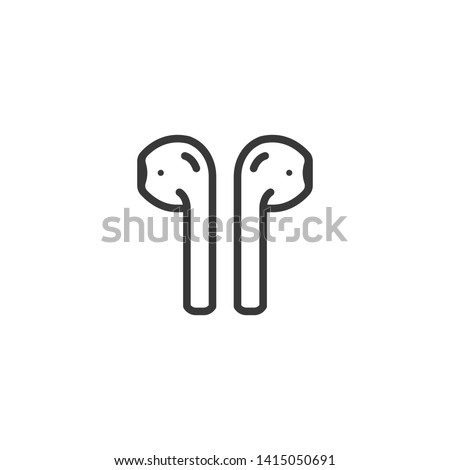 Air pods icon. Wireless symbol modern simple vector icon