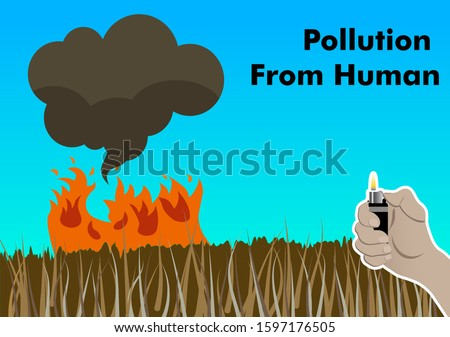 air polluion from human's hand
