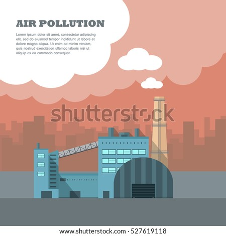 air pollution banner factory