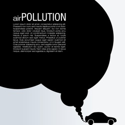 Air Pollution Vector Design - Global Warming Illustration
