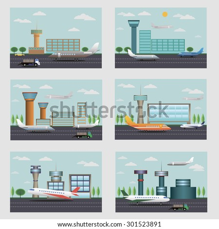 air ports vector image design