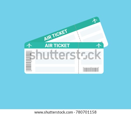 Air Ticket Icon Vector Illustration
