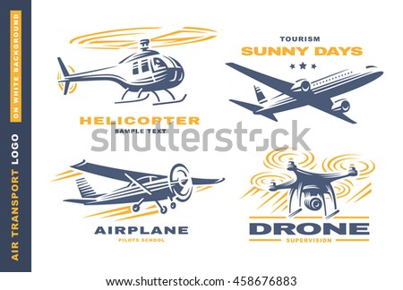 Air transport Logo illustration on white background