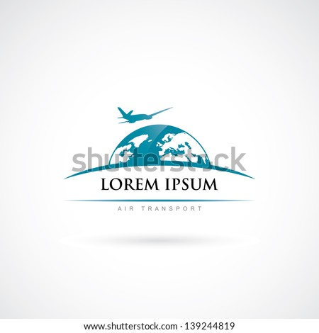 air travel label   vector