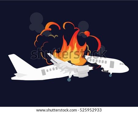 aircraft accidents vector