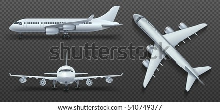 aircraft  airplane  airliner in