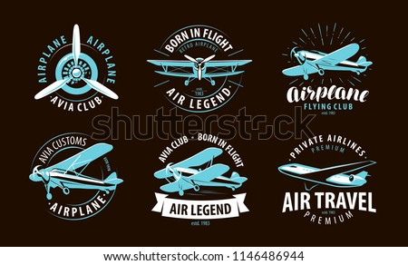 aircraft  airplane logo or