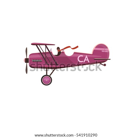 aircraft biplane icon  cartoon