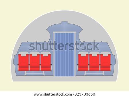 aircraft cabin vector