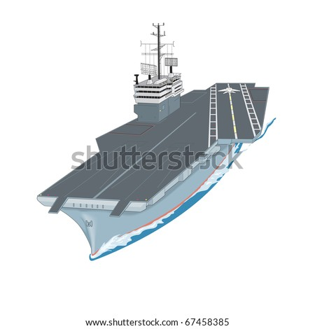 aircraft carrier floating on