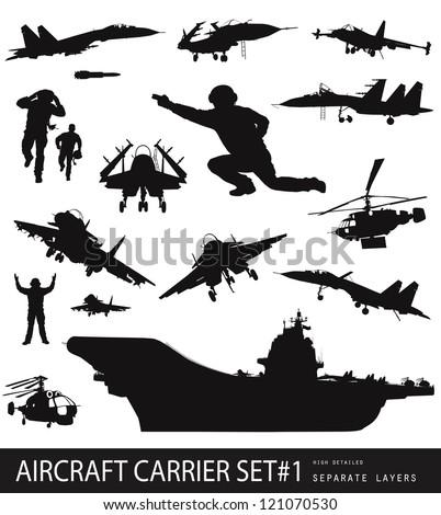 aircraft carrier high detailed
