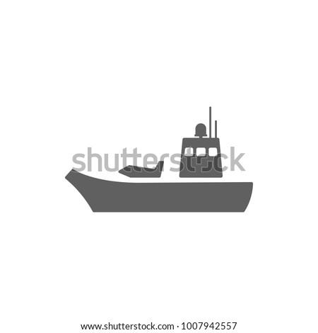 aircraft carrier icon vector