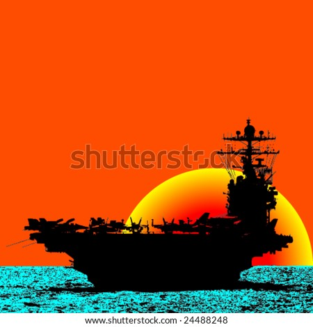 aircraft carrier sailing the