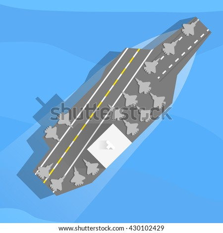 aircraft carrier with planes on