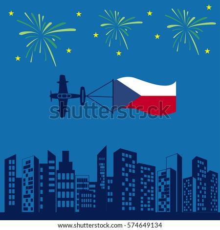 aircraft czech republic flag