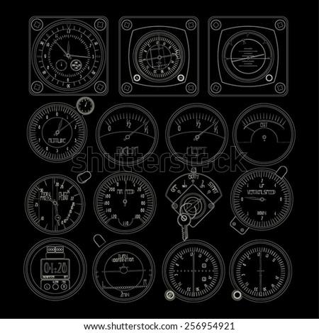 aircraft dashboard instruments