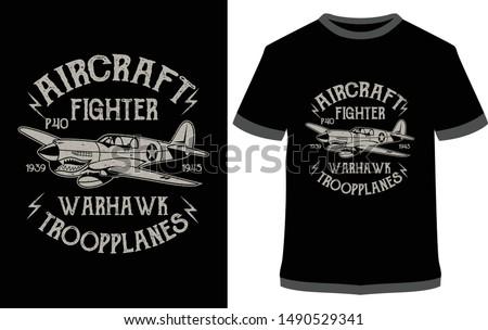 aircraft fighter warhawk
