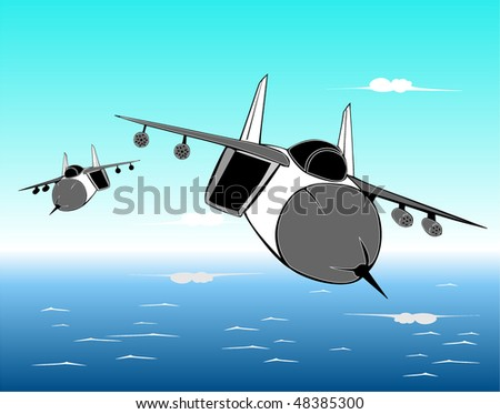 aircraft flying over the sea