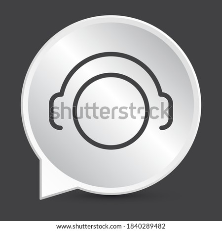 aircraft headphone sign icon in