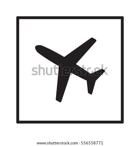 aircraft  icon   isolated flat