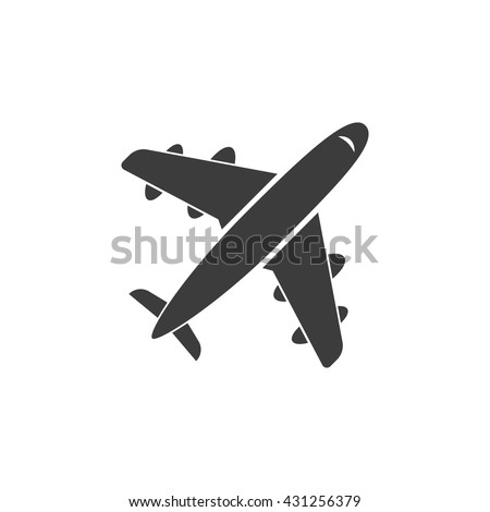 aircraft icon travel vector