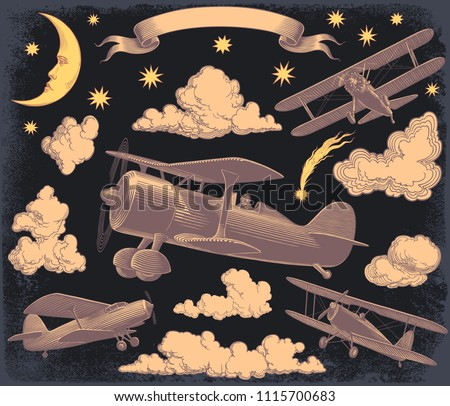 aircraft in the sky design set