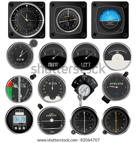 aircraft instruments  isolated